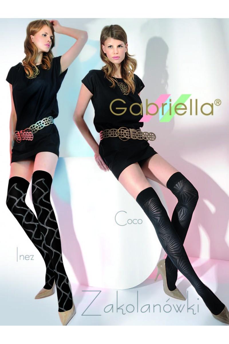 Sosete peste genunchi, Gabriella Inez cu model, 60 den - G155/156