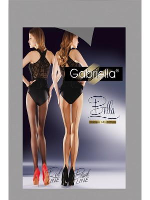 Dresuri dama Gabriella cu dunga colorata la spate, Bella 20 den -G434/B.