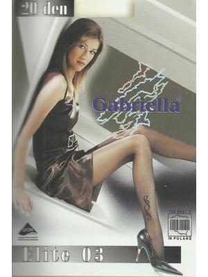 Ciorapi de dama cu model, Gabriella Elite 03, 20 den (măsura 2, 3)