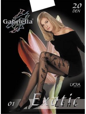 Ciorapi de dama cu model, Gabriella Exotic 01, 20 den (măsura 2, 3, 4)