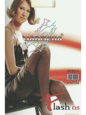 Dresuri de dama groase cu model, Gabriella Flash 03, 50 den (măsură 2, 3, 4)