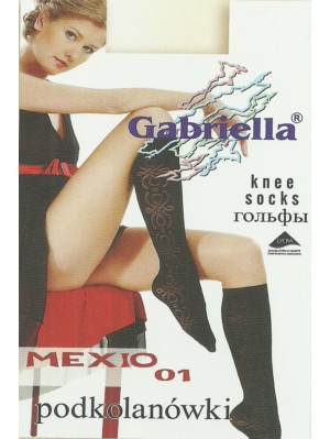 Șosete de dama 3/4 Gabriella, Microfibră Mexio 01 60 den