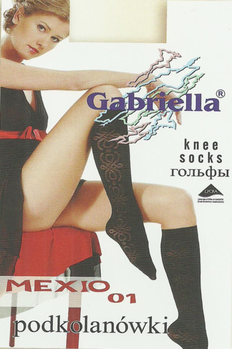 Șosete 3/4 Gabriella, Microfibră Mexio 01 60 den -G561/560.