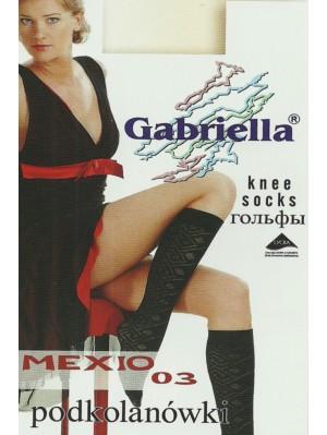 Șosete de dama 3/4 Gabriella, Microfibră Mexio 03 60 den