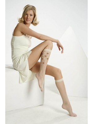 Șosete de dama 3/4 Gabriella, Riva 02 cu model 17 den -G563/561