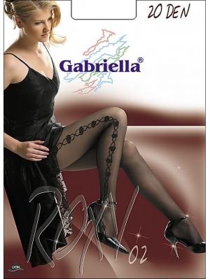 Dresuri dama Gabriella, Roxy 02 Lurex, 20 den -G330/332