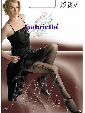Ciorapi de dama cu model, Gabriella Roxy 03 Lurex, 20 den (măsura 2, 3, 4)