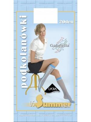 Șosete de dama 3/4 Gabriella, Summer 05 cu model 20 den -G510/514.