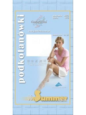 Șosete de dama 3/4 Gabriella, Summer 06 cu model 20 den -G510/515
