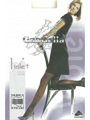 Ciorapi de dama cu model, Gabriella Violet 02, 20 den (măsura 2, 3)