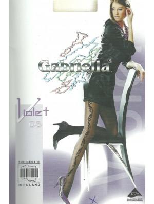 Ciorapi de dama cu model, Gabriella Violet 03, 20 den (măsura 2, 3)