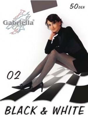 Dresuri dama Gabriella, Black & White 02, 50 den -G321.