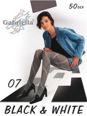 Dresuri dama Gabriella, Black & White 07, 50 den -G321/326.