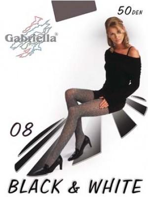 Dresuri dama Gabriella, Black & White 08, 50 den -G321/327.