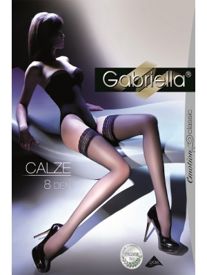 Ciorapi cu banda adeziva, Calze Clasic 8 den -G199.