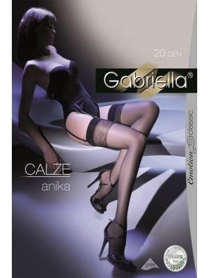 Ciorapi de dama Gabriella, Calze Anika pentru portjartier 20 den -G228.