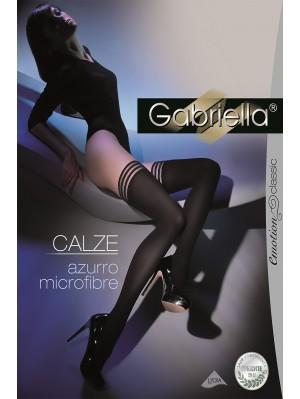 Ciorapi cu banda adeziva, Azurro Calze Microfibră 60 den -G216.