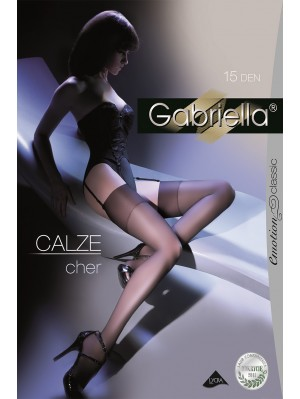 Ciorapi de dama Gabriella, Calze Cher, pentru portjartier 15 den (măsura 1/2, 3/4)