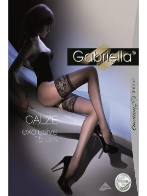 Ciorapi cu banda adeziva, Calze Exclusive15 den -G201.