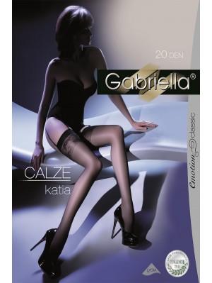 Ciorapi de dama Gabriella, Calze Katia pentru portjartier 20 den -G227.