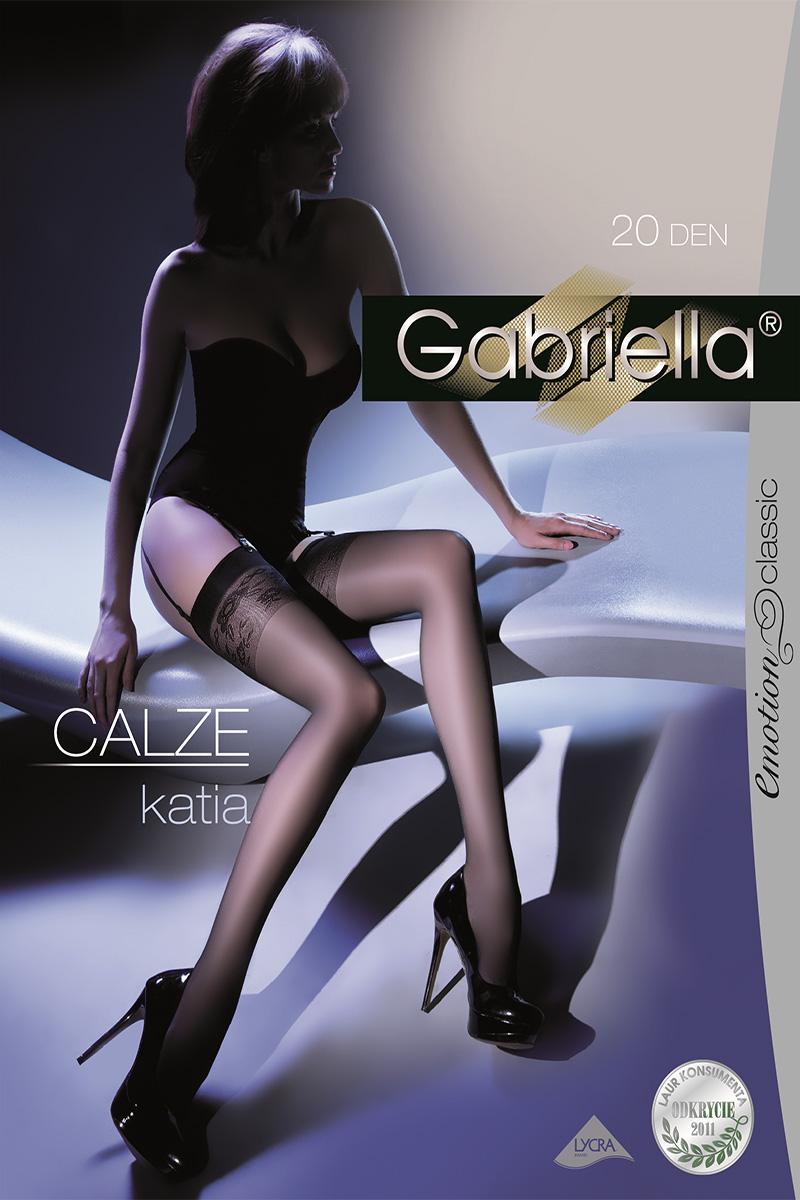 Ciorapi de dama Gabriella, Calze Katia pentru portjartier 20 den (măsura 1/2, 3/4)