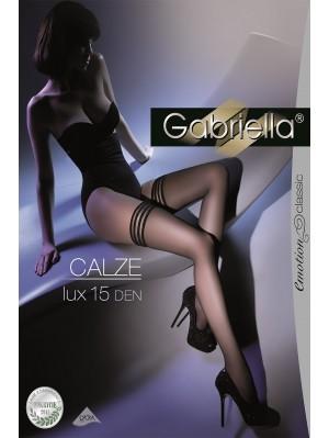 Ciorapi cu banda adeziva, Lux-Calze 15 den -G202.