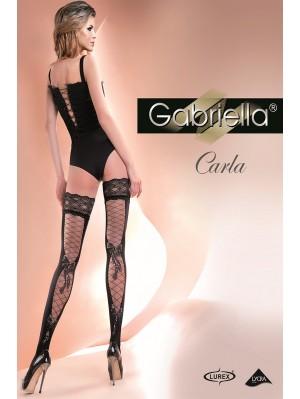 Ciorapi cu banda adeziva, Carla Calze Lurex 60 den -G246.