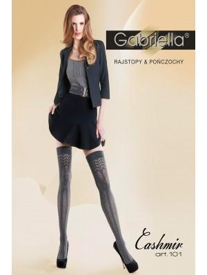 Sosete peste genunchi groase, Gabriella Casmir cu model,  200 den (măsuri: 1/2, 3/4)