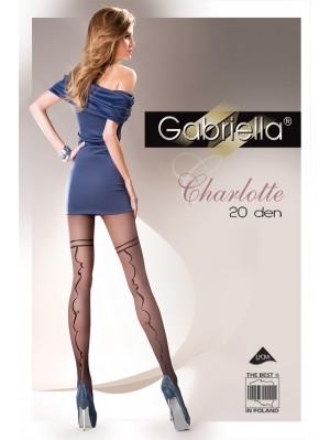 Ciorapi Gabriella Charlotte cu model, 20 den (măsura 2, 3, 4)