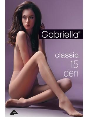 Ciorapi de dama subtiri, Gabriella Clasic 15 den (măsuri: 1, 2, 3, 4, 5)