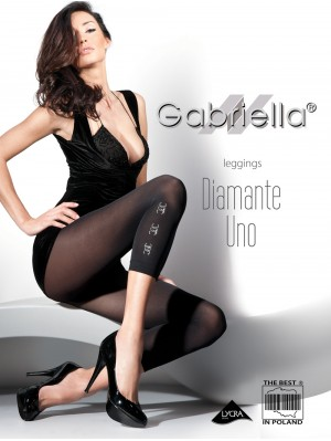 Colanți Gabriella, Leggings Diamante Uno 60 den (măsuri: 1/2, 3/4)