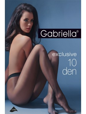 Ciorapi de dama subtiri, Gabriella Exclusiv 10 den (măsuri: 2, 3, 4)
