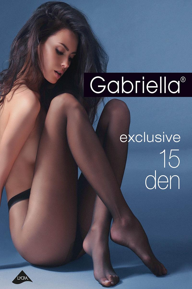 Ciorapi de dama subtiri, Gabriella Exclusiv 15 den (măsuri: 2, 3, 4)