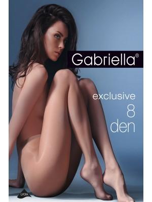 Ciorapi de dama subtiri, Gabriella Exclusive, 8 den (măsuri: 2, 3, 4)