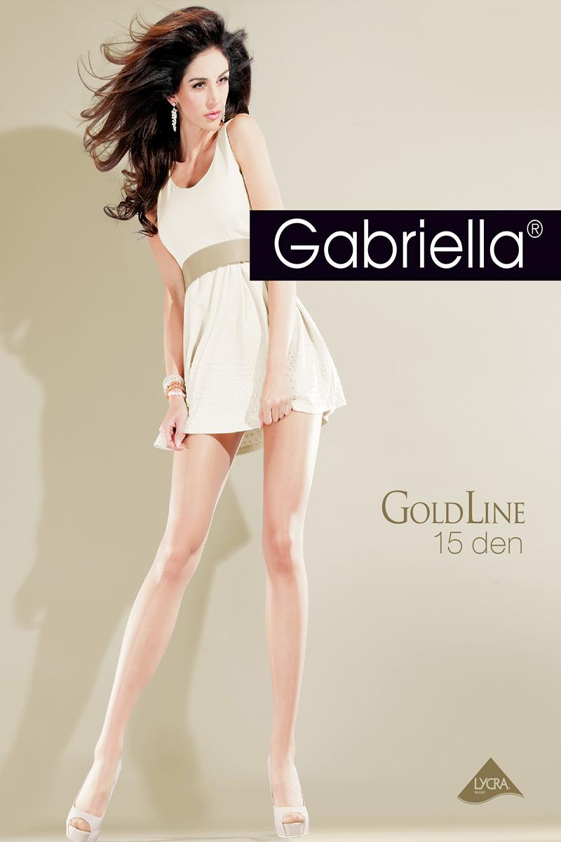 Ciorapi de dama subtiri, Gabriella Gold, 15 den (măsuri: 2, 3, 4)
