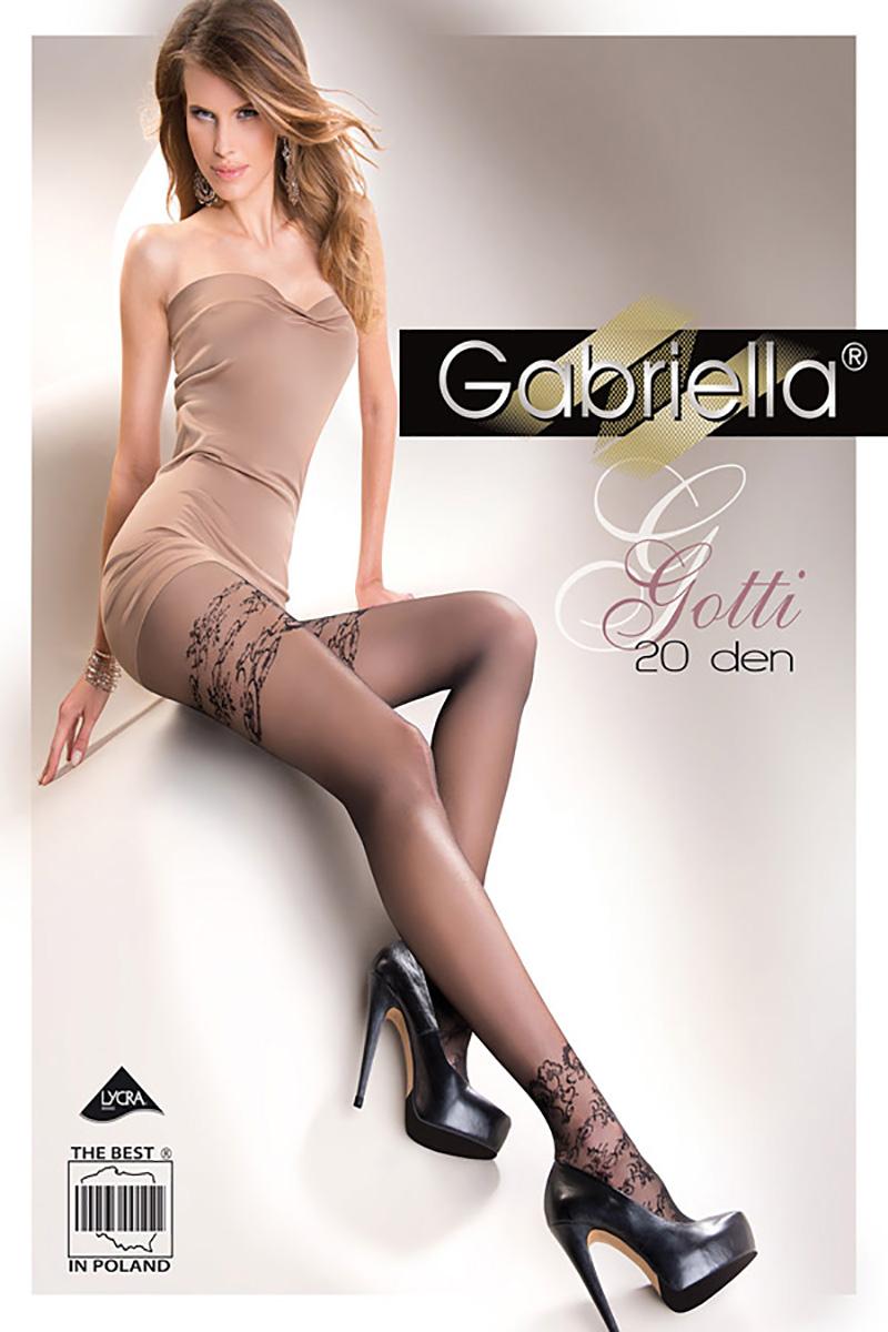 Ciorapi Gabriella Gotti cu model, 20 den (măsură 2, 3, 4)
