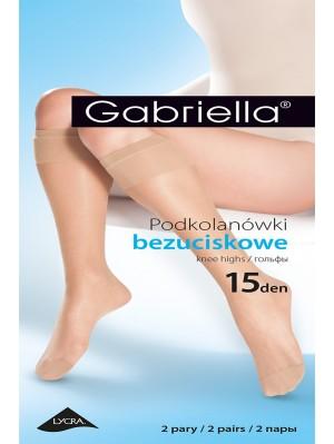 Șosete de dama 3/4 Gabriella 15 den (2 perechi)