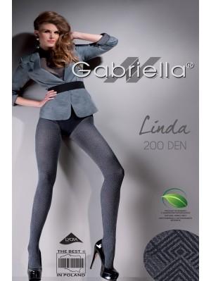 Dresuri de dama groase, Gabriella Linda cu model, 200 den (măsura 2, 3, 4)