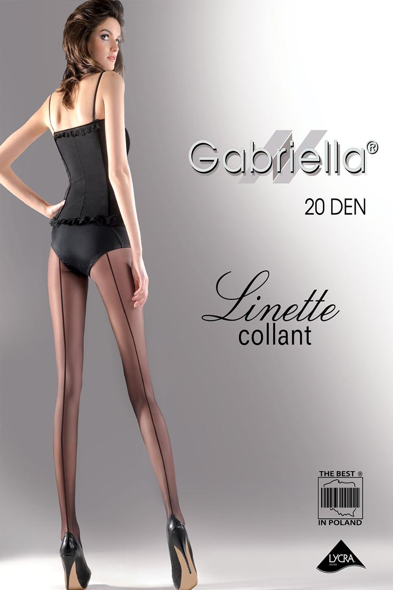 Dresuri dama Gabriella, Linette cu dunga la spate, 20 den -G116.