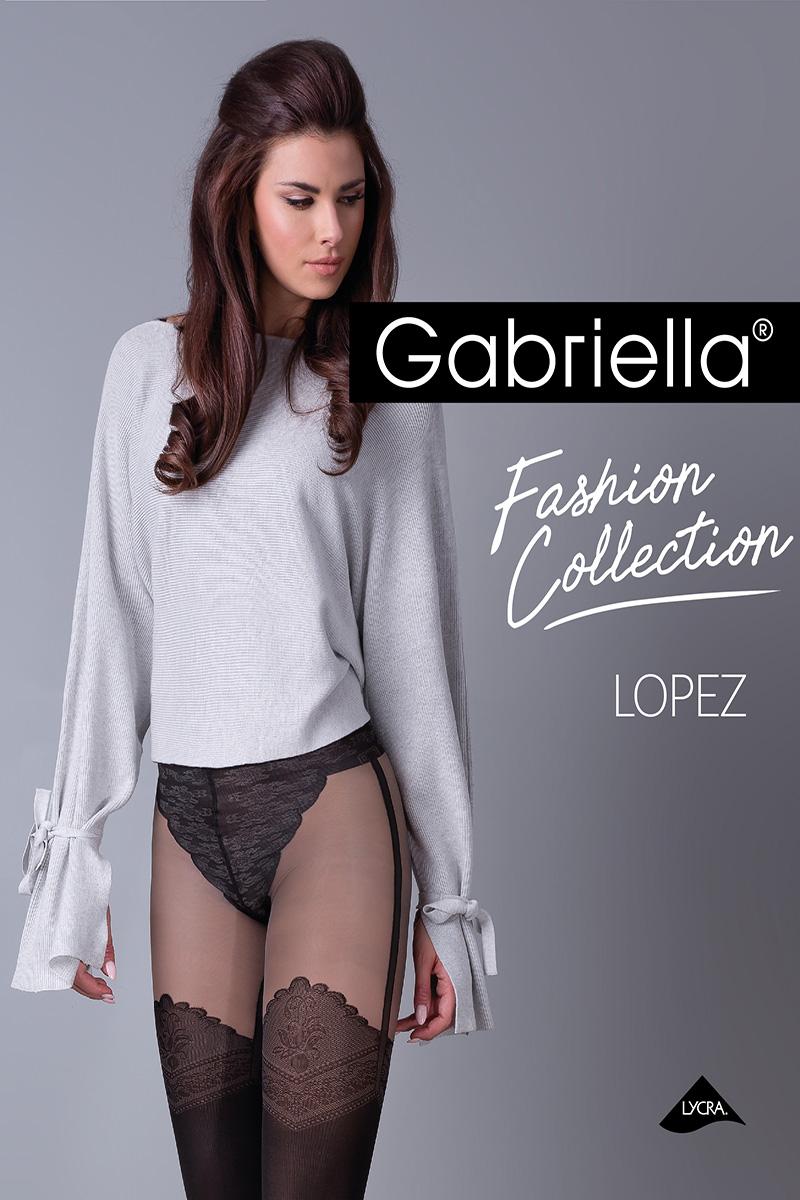 Dresuri de dama groase, Gabriella Lopez cu model, 60 den (măsura 2, 3, 4)