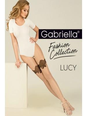 Ciorapi de dama subtiri cu model, Gabriella Lucy, 15 den (măsura 2, 3, 4)
