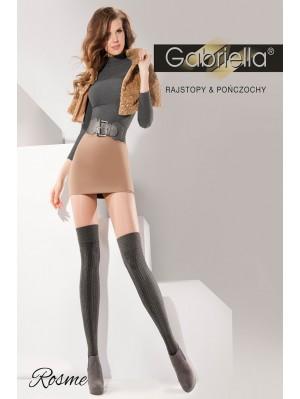 Sosete peste genunchi Gabriella, Rosme cu model, 200 den- G181.