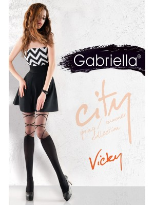 Dresuri de dama groase, Gabriella Vicky cu model, 50 den (măsura 2, 3, 4)