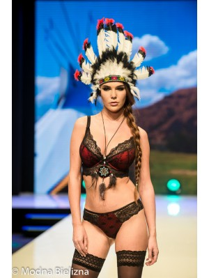 Dama Kier/ DOLORES, chilot cu croiala braziliana - Tanga-8419.