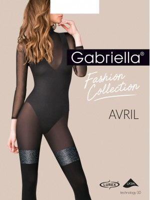 Dresuri dama groase cu model, Gabriella-Avril 60 den (masuri 2, 3, 4).